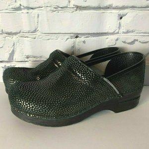 Dansko Clogs Size EUR 39 US 8.5 9 Black Leather
